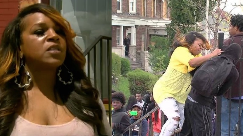 """The Baltimore mom who dragged her kid away from the riots speaks out: """"I don't play that."""""""