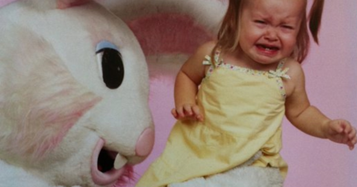 The best pictures of creepy Easter Bunnies scaring the chocolate out of innocent children.