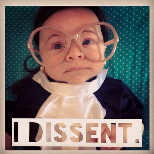 The cutest little Supreme Court Justice you'll see all day.