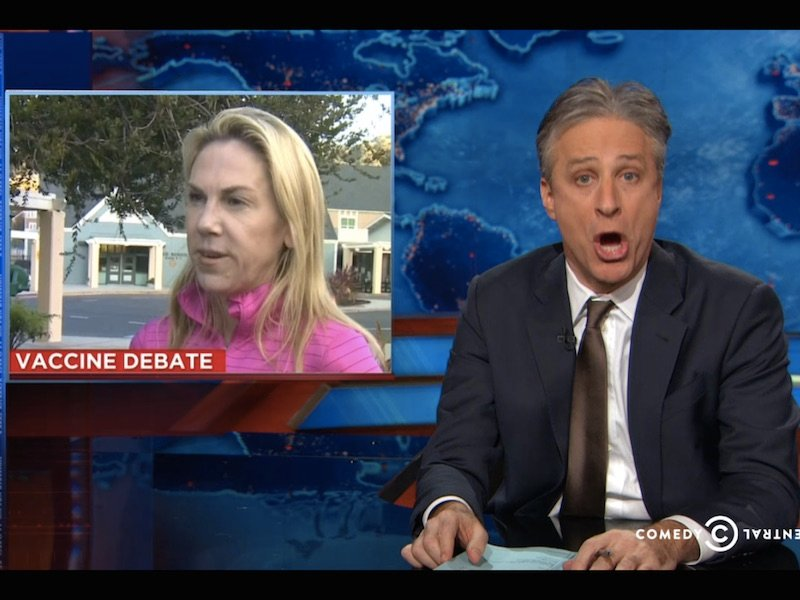 The Daily Show examines how stupid people on the left and the right united to fight vaccines.