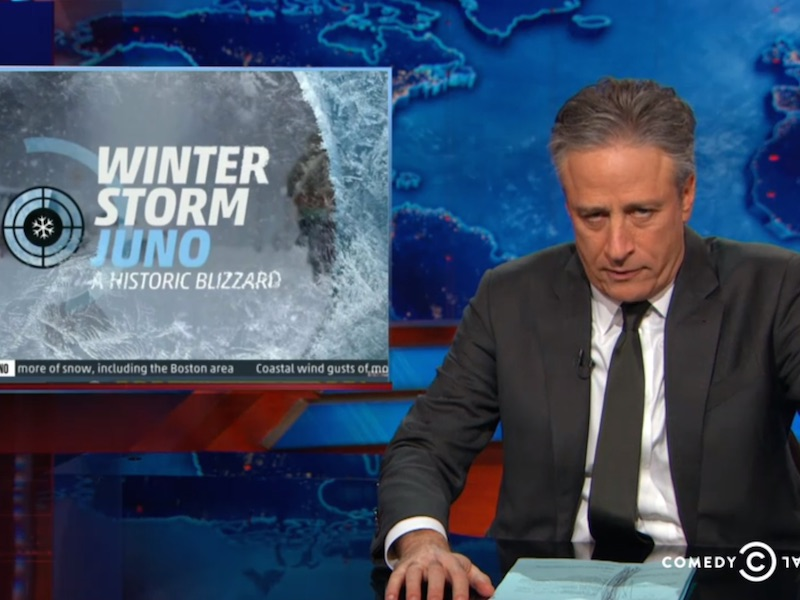 'The Daily Show' rounds up the most overblown news coverage of Winter Storm Juno.