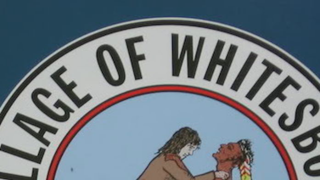 It's hard to believe this is really the town flag of Whitesboro, New York.