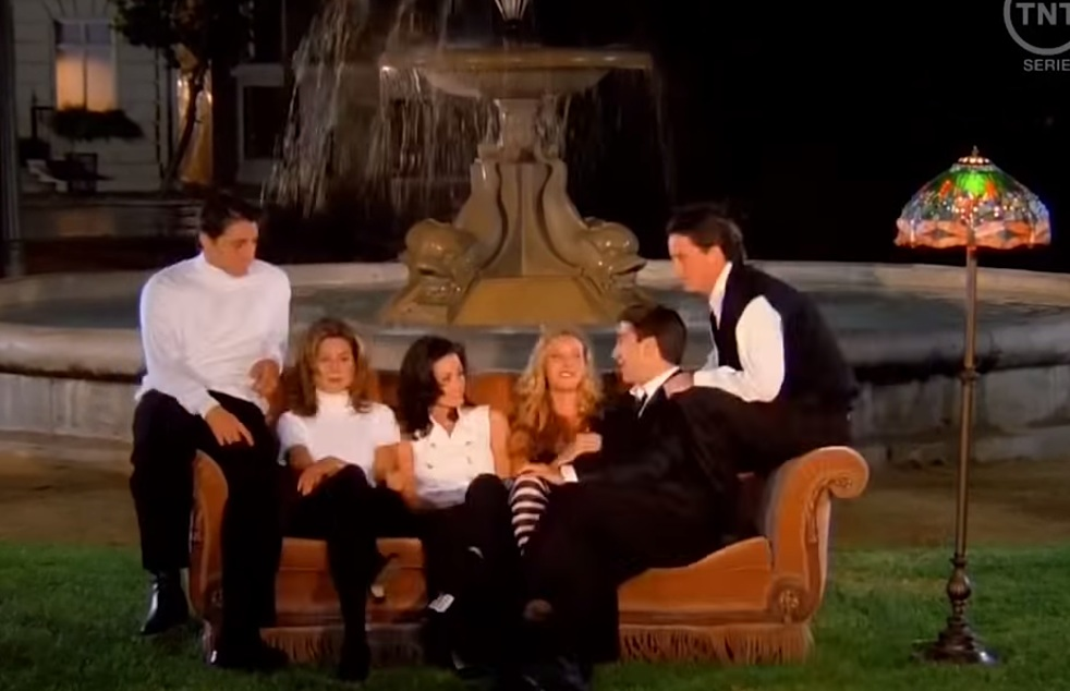 The 'Friends' opening sequence is a lot weirder without music.