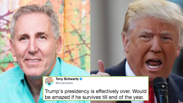The guy who co-wrote 'Art of the Deal' predicts Trump is about to resign.
