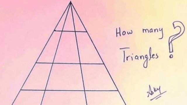 The internet is going crazy trying to figure out how many triangles are in this picture.