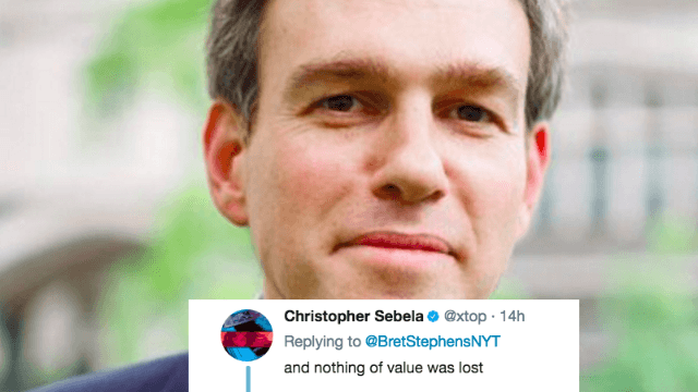 The New York Times climate change denier is quitting Twitter—so Twitter roasted him one more time.