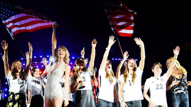 Introducing the newest members of Taylor Swift's squad: the US Women's National Soccer Team.