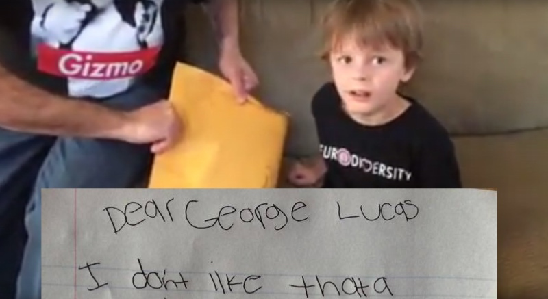 The only thing cuter than this 7-year-old's letter to George Lucas is the letter he got back.