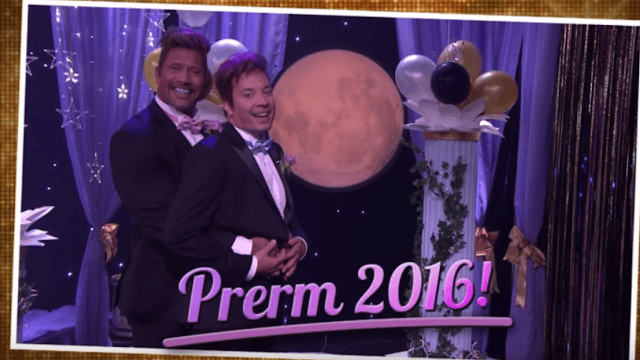 The Rock and Jimmy Fallon finally had the prom date no one dreamed of.