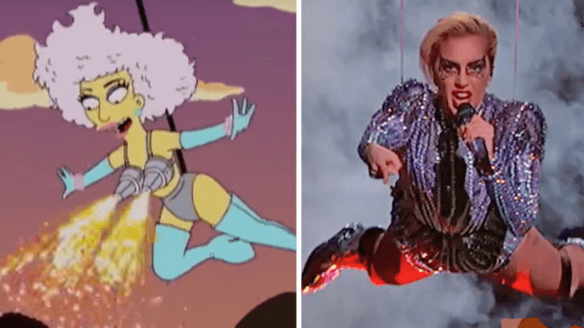 Lady Gaga's Super Bowl show was pretty cool, but the 'Simpsons' did it back in 2012.