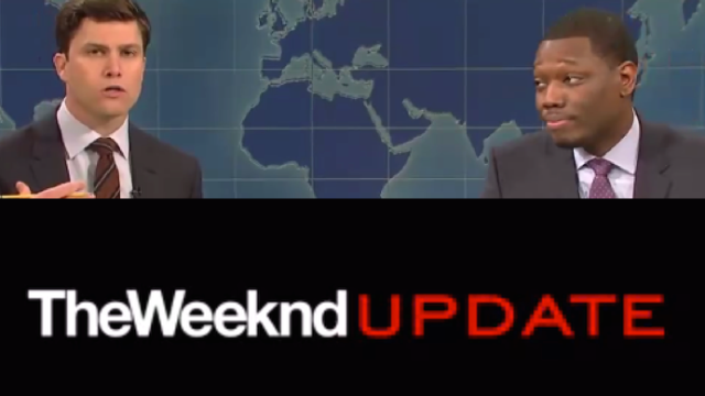 There were two 'Weekend Updates' on SNL last night, one of which you may never see again.