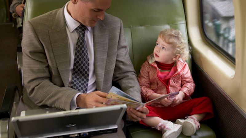 The 5 stages of accidentally sitting in Amtrak's Quiet Car with your 1-year-old.