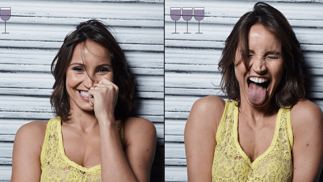 Photographer proves that people look way happier after their third glass of wine.