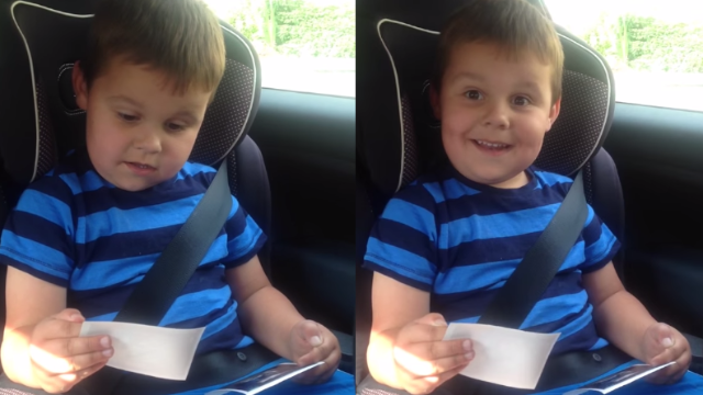 This 5-year-old can barely contain his delightfully British excitement about getting to be a big brother.