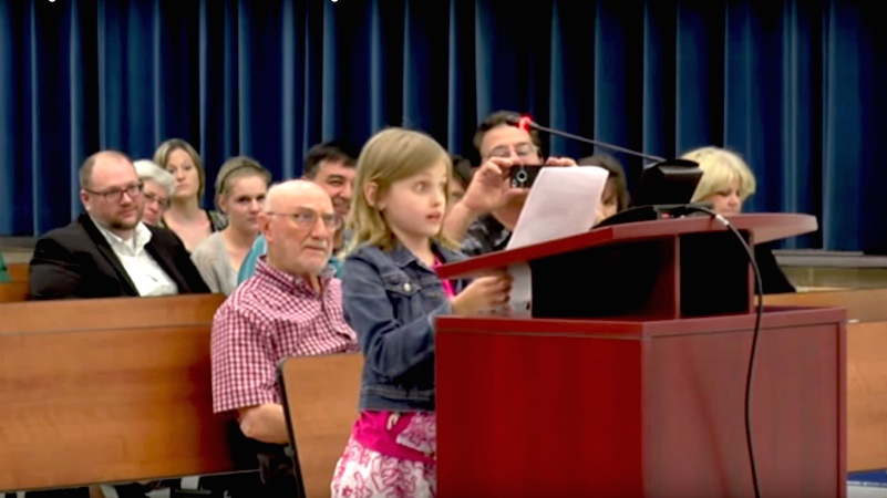 Impassioned 9-year-old girl gives school board 3 excellent reasons to stop standardized testing.