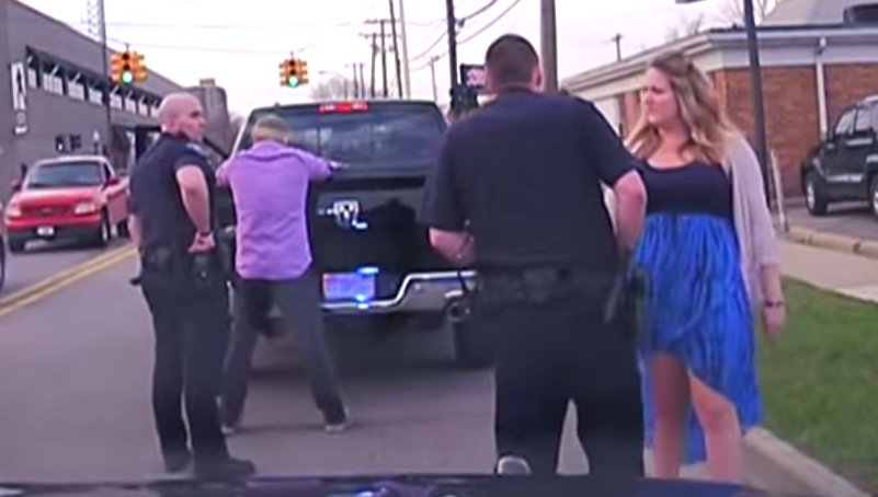 This couple got pulled over on their first date. Two years later, that gave him an idea.