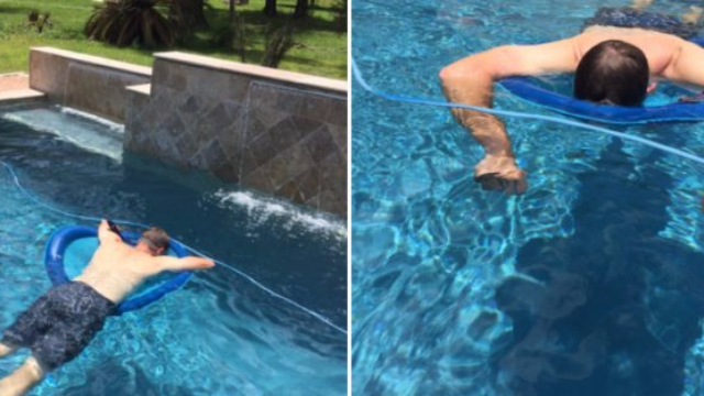 This Dad Invented A Way To Take A Nap In The Pool & Everyone Is Obsessed