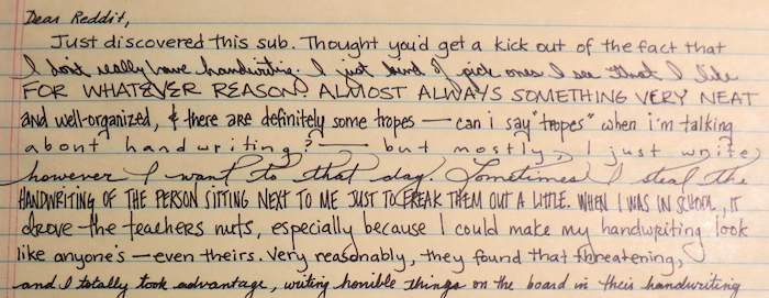 This Girls Insane Handwriting Mastery Will Impress And Eventually Terrify You