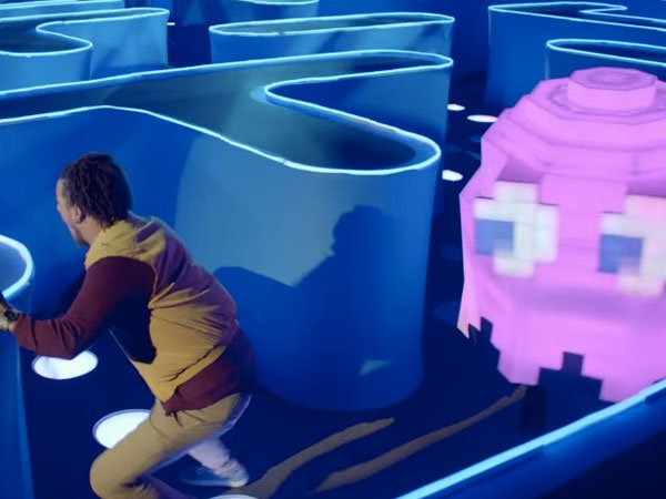 This guy walked into a bar and accidentally found himself inside a real-life game of Pacman.