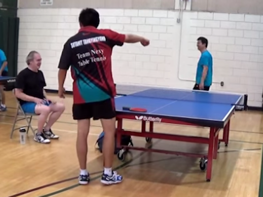 This kid's ping pong move would be the best moment in anyone's life.