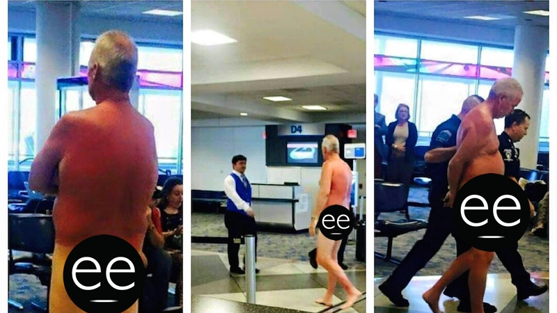 This man was angry about his overbooked flight, so he found the most logical way to protest.