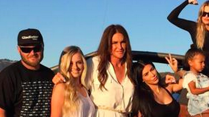 This photo Caitlyn Jenner shared of her family's Father's Day celebration is the best.