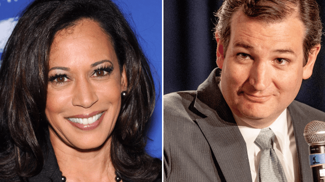 Kamala Harris lost a bet to Ted Cruz and the video of her paying up is uncomfortable.