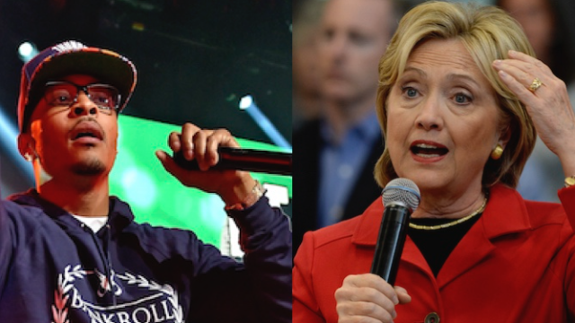 Rapper T.I. won't vote for Hillary because she's too female, not enough of a lake monster.