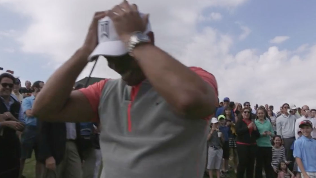 This 11-year-old golfer completely stole the spotlight from Tiger Woods at his own golf course.