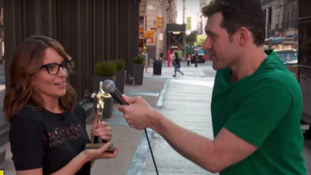 "Tina Fey can't think of 20 Latino performers in this ""Billy on the Street"" teaser."