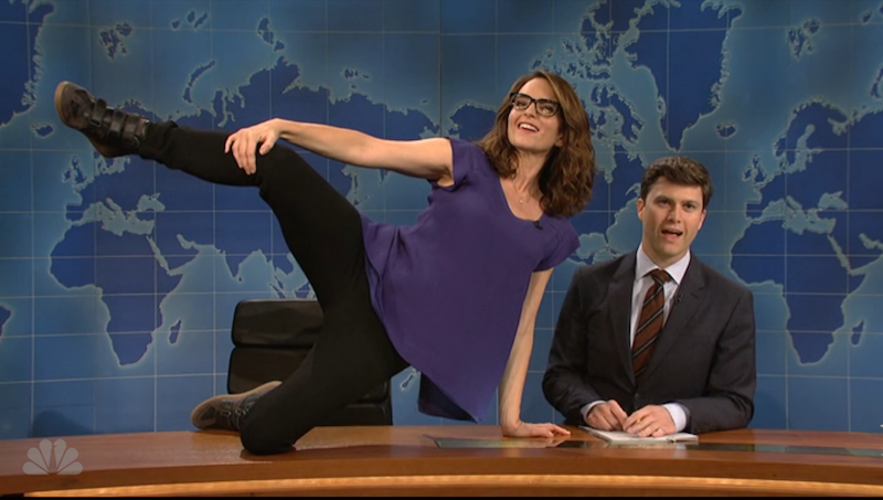 Tina Fey returned to 'Weekend Update' to lament the loss of nudes in Playboy.