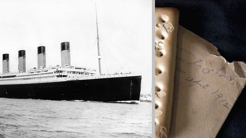 Cracker survives the sinking of the Titanic, is now worth big bucks.