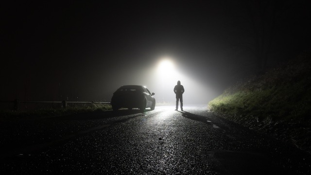 20 people who work, drive, or explore late at night share their scariest after-dark stories.