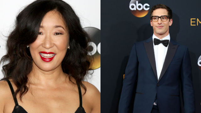 12 times Andy Samberg and Sandra Oh roasted nominees during the Golden Globes.