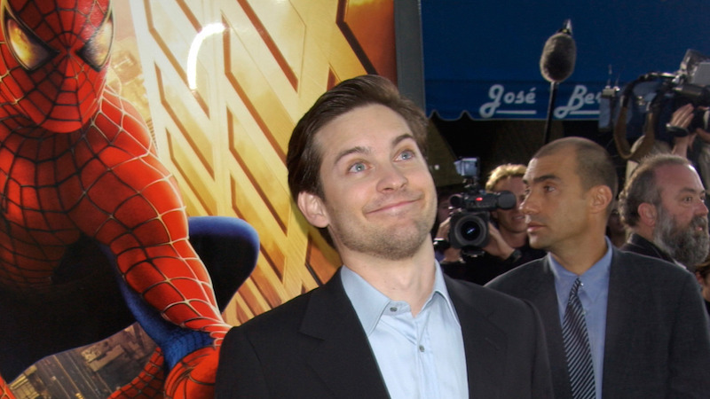 Tobey Maguire graciously congratulates the new Spider-Man with a meme on Instagram.
