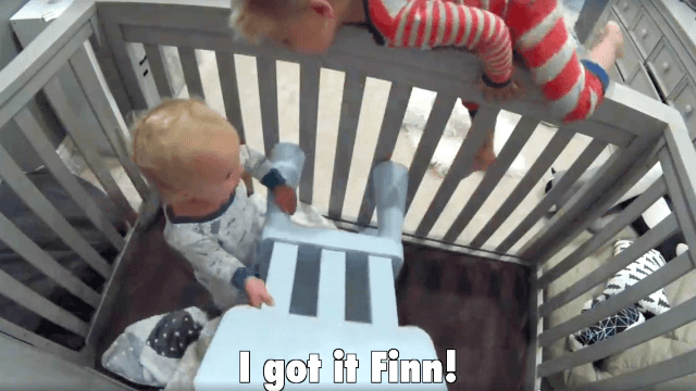 Internet mesmerized by video of toddler helping his little brother break out of a crib.