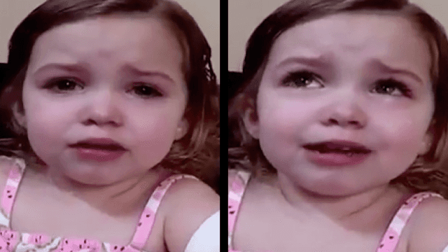 Toddler has relatable breakdown upon realizing that being a mom is tough.