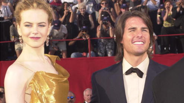 Oh wait: Tom Cruise was at his daughter's wedding. Nicole Kidman wasn't. Scientologists!