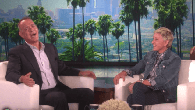 Tom Hanks and Ellen DeGeneres act out what would happen if 'Toy Story' met 'Finding Nemo.'
