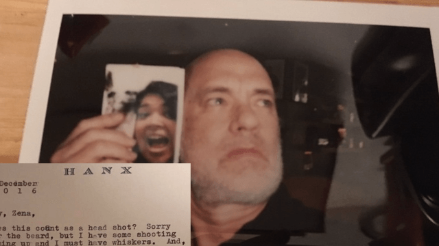 Fan who sent Tom Hanks a selfie and a letter receives a selfie and a letter back.