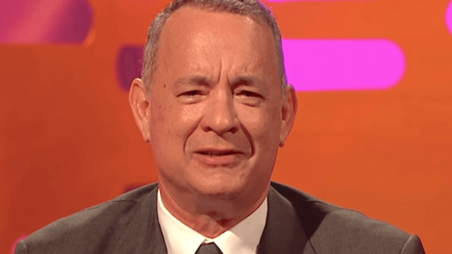 Tom Hanks reenacted a classic line from 'Forrest Gump' and the crowd ate it up.