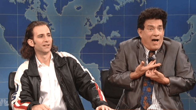 Tom Hanks fulfilled his destiny of telling corny Halloween dad jokes in this cut 'SNL' sketch.