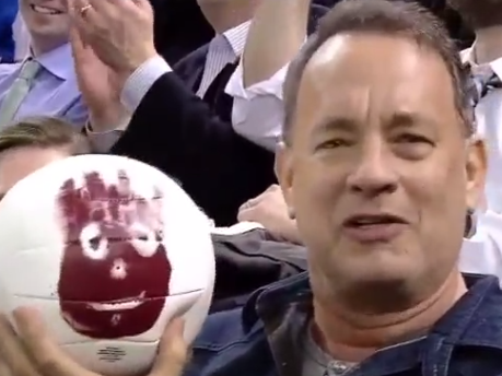 Tom Hanks' best friend Wilson finally washed up at a hockey game 15 years later.
