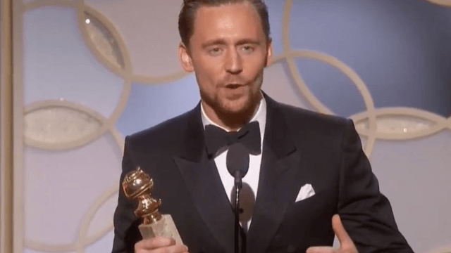 Twitter cringed hard at Tom Hiddleston's tone-deaf Golden Globes speech about South Sudan.
