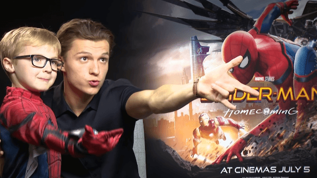 Tom Holland got interviewed by a Spider-Man even tinier than him and it's so darn cute.