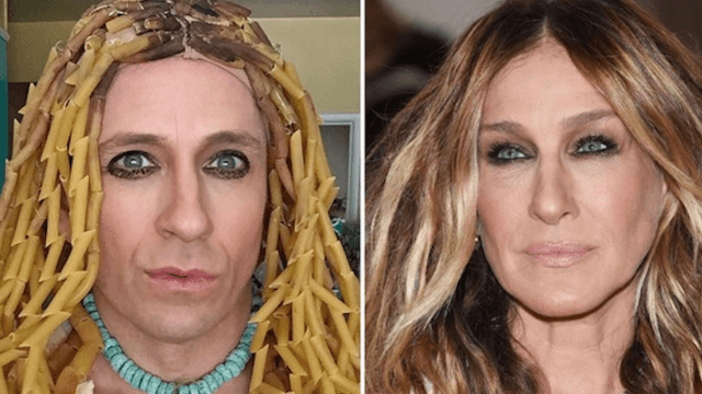 Former 'Buffy' star Tom Lenk currently spends his time recreating celebrity outfits on Instagram.