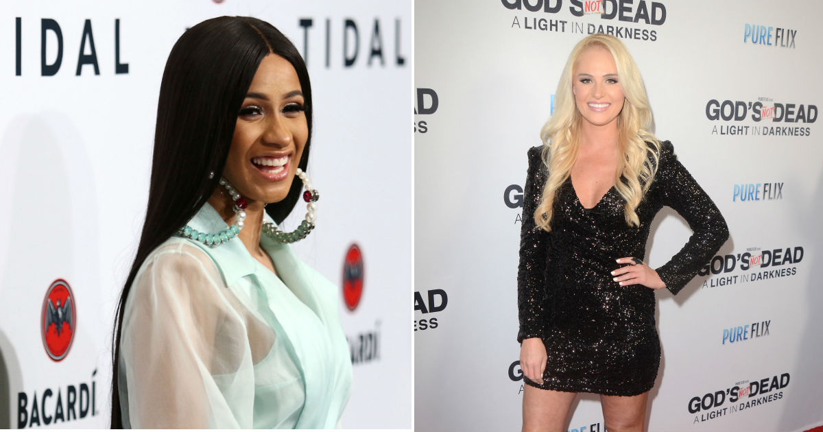 Tomi Lahren and Cardi B. had a huge fight about a man. Hint: It's Trump.