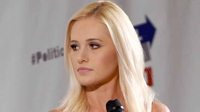 Someone threw a drink at Tomi Lahren and the president has weighed in. Seriously.