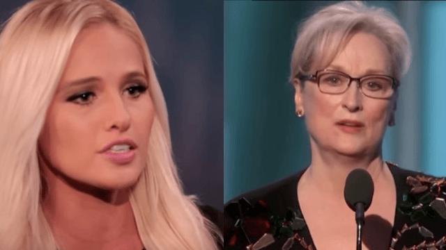 Twitter roasts Tomi Lahren after she freaks out over Meryl Streep's Golden Globes speech.