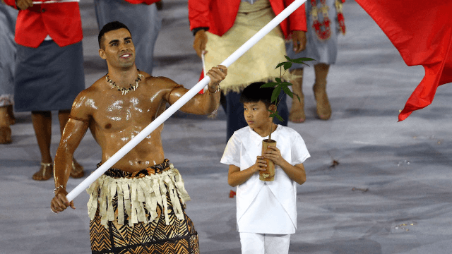 The internet's favorite outfit of the Olympic Opening Ceremony was Tonga's shirtless flag-bearer.